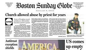 Boston Globe above the fold